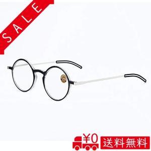 イェローロック(Yellowrock)薄さ3mm ブルーライト カート丸型老眼鏡 おしゃれ 超軽量リーディンググラス メンズ|all-box-1-100