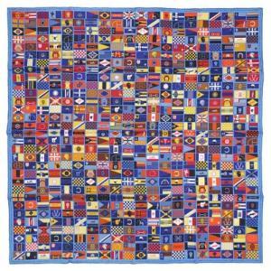 HERMES エルメス カレ シルクツイル スカーフ 90x90 シルク100% HERMES EN VOYAGE ブルージーン/マスタード/ヴィオレ 261004 all-brand