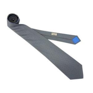 HERMES エルメス メンズ ネクタイ プリント デザイン シルク100% ブルー×ベージュ all-brand