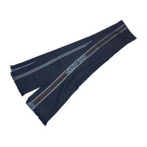 LOUIS VUITTON ルイヴィトン マフラー スカーフ ヴィトン LV エシャルプ・メサジェ ウール100% マロン(ネイビーxブラウン) M72684|all-brand