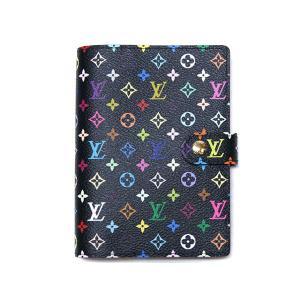 LOUIS VUITTON ルイ・ヴィトン マルチカラー アジェンダPM 手帳カバー ノワールxグルナード(ピンク) LV R21076|all-brand