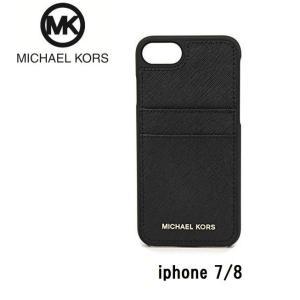 b29c4edbf5b1 マイケルコース MICHAEL KORS スマートフォンケース 32S7GE7L3L 1 アイフォンケース iPhone7 iPhone8 ブラック 黒