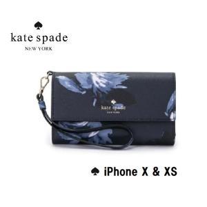 2c77691c36 ケイトスペード kate spade アイフォンケース エンヴェロップ リスレット - X & XS Night Rose