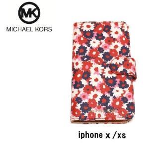 マイケルコース MICHAEL KORS アイフォンケース  iPhone xxs カーネーション 手帳型 all-for-you