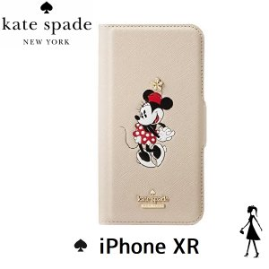 ケイトスペード kate spade iPhone XR 手帳型レザーケース  ミニーマウス フォリオ|all-for-you