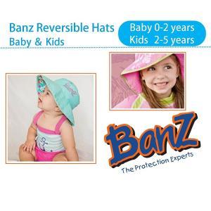 赤ちゃん  0-2歳  キッズ  2-6歳  UPF50 + UVカット 紫外線カット リバーシブル ハット 帽子 バンズ Banz|all-for-you