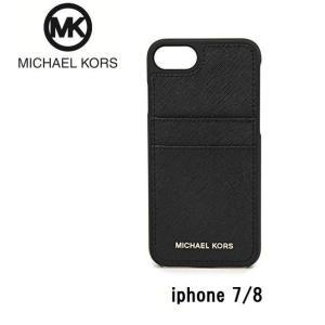 マイケルコース MICHAEL KORS  スマートフォンケース 32T8GE7L9L 1 アイフォンケース iPhone7 / iPhone8 ブラック 黒 all-for-you