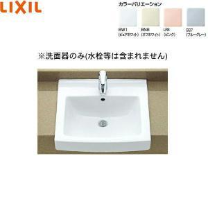 [L-2150]リクシル[LIXIL/INAX]はめ込み角形洗面器[オーバーカウンター式]|all-kakudai