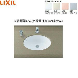 [L-2291]リクシル[LIXIL/INAX]はめ込みだ円形洗面器[アンダーカウンター式]|all-kakudai