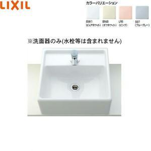 [L-531]リクシル[LIXIL/INAX]角形洗面器[ベッセル・壁付兼用式]|all-kakudai