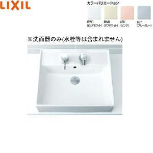 [L-555]リクシル[LIXIL/INAX]角形洗面器[ベッセル・壁付兼用式]|all-kakudai