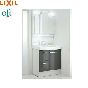 [FTV1H-755SY-W+MFTV1-753TXJU]リクシル[LIXIL][オフト]洗面化粧台セット[セット間口750][送料無料]|all-kakudai