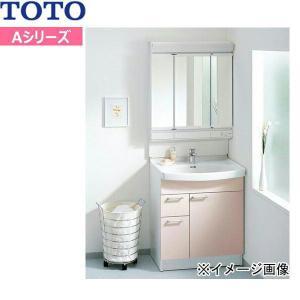 [LDA757BEUR-LMA753EC]TOTO[Aシリーズ]洗面化粧台セット03[セット間口750mm][スウィング三面鏡・片引き出し][送料無料]|all-kakudai