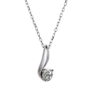 ネックレス 一粒 ダイヤモンド ネックレス ダイヤモンドネックレス ホワイトゴールド