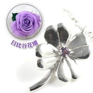 幸せを呼ぶ誕生石をお花モチーフが包み込む。胸元をオシャレに注目度抜群。プレゼントに最適。2月の誕生石...