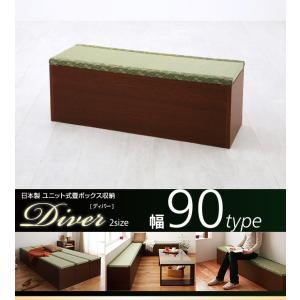 ユニット式畳 ボックス収納 日本製 1体 90タイプ|alla-moda