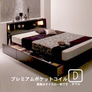 収納付きベッド プレミアムポケットコイルマットレス ダブル|alla-moda