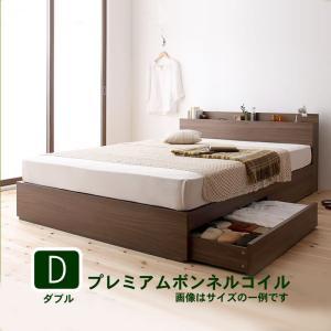 ダブルベッド 収納付き ベッド プレミアムボンネルコイル|alla-moda