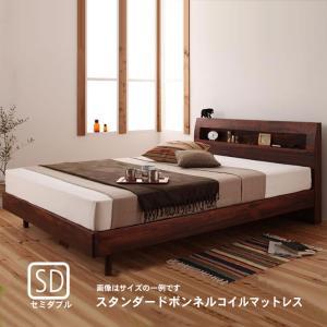 すのこベッド スタンダードボンネルコイルマットレス セミダブル|alla-moda