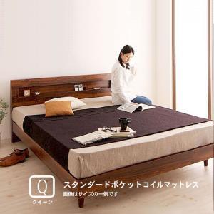 すのこベッド クイーン(Q×1) スタンダードポケットコイルマットレス付き|alla-moda