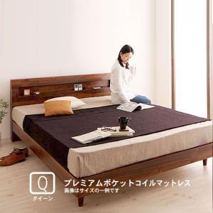 すのこベッド クイーン(Q×1) プレミアムポケットコイルマットレス付き|alla-moda