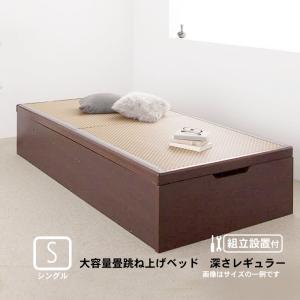 ベッド 跳ね上げ シングル 美草・日本製 大容量畳 深さレギュラー 組立設置付|alla-moda
