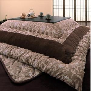 こたつ掛布団&敷布団2点セット 正方形(75×75cm)天板対応 更紗模様|alla-moda