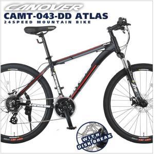 マウンテンバイク 26インチ 自転車 シマノ24段変速 前後ディスクブレーキ カノーバー CANOVER マットブラック|alla-moda