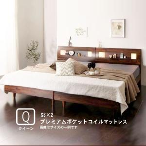 ベッド すのこ クイーン ポケットコイルマットレスハード付き クイーン(SS×2)|alla-moda