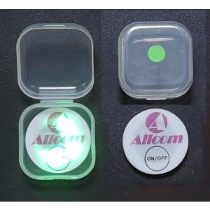 光るゴルフマーカー 緑色LED でポッキリ500円 送料無料 ゴルフコンペの景品 個装ケース入り