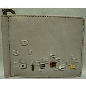 ディーゼル メンズ2つ折り財布 マネークリップ式 ライトグレー|allegrezza