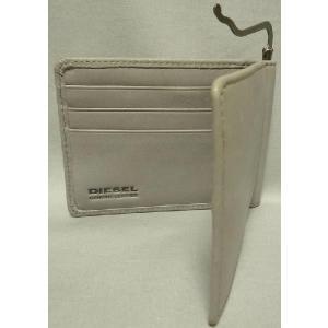 ディーゼル メンズ2つ折り財布 マネークリップ式 ライトグレー|allegrezza|03