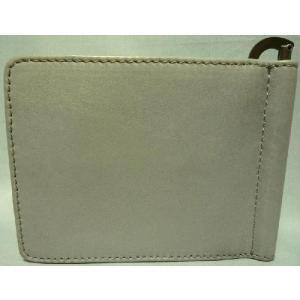 ディーゼル メンズ2つ折り財布 マネークリップ式 ライトグレー|allegrezza|04