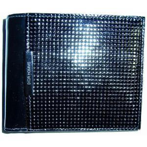 ディオール オム Dior Homme  2つ折り財布 エナメル革 黒 ディオールオム DHMW|allegrezza