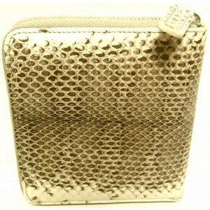 D&G DP0422 メンズ 2つ折り財布 フルジッパータイプ ヘビ革 オフホワイト |allegrezza|02