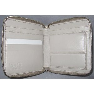 D&G DP0422 メンズ 2つ折り財布 フルジッパータイプ ヘビ革 オフホワイト |allegrezza|03