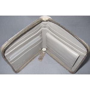 D&G DP0422 メンズ 2つ折り財布 フルジッパータイプ ヘビ革 オフホワイト |allegrezza|04