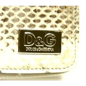 D&G DP0422 メンズ 2つ折り財布 フルジッパータイプ ヘビ革 オフホワイト |allegrezza|05