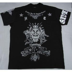 ジバンシー GIVENCHY メンズ 半袖Tシャツ 黒 スカルタトゥーデザイン GTXXS|allegrezza