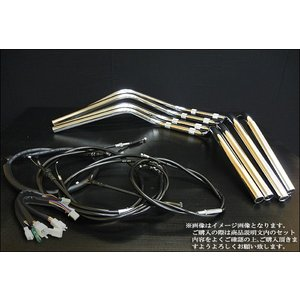 カワサキ ZRX400(-'03) クラシックアップハンドルキット 【メッキハンドル/ブラックワイヤーセット】|alleguretto88jp