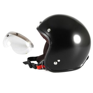 72JAM ジェットヘルメット&シールドセット JP MONO HELMET - オフブラック (フ...