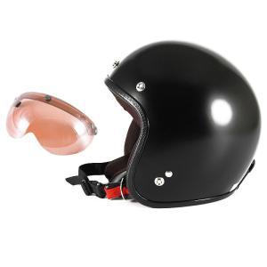 72JAM 女性用 ジェットヘルメット&シールドセット JP MONO HELMET - オフブラッ...