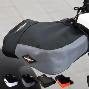 リード工業 防風 防水 バイクハンドルカバー (ホワイト グレー オレンジ ブラック) 全4色 KS...