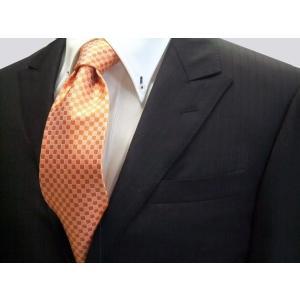 オレンジ市松模様ネクタイ / IT016|allety-y