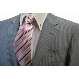 ピンク地に濃いピンクのグラデーションネクタイ / 結婚式・披露宴・フォーマル・礼装/STN-W13030|allety-y