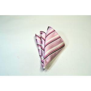 ピンク地に濃いピンクのグラデーションのポケットチーフ(チーフ23cm) / PCN-SW13030|allety-y