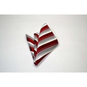 赤(レッド)地にグレーのグラデーションのポケットチーフ(チーフ23cm) / PCN-SS11042|allety-y