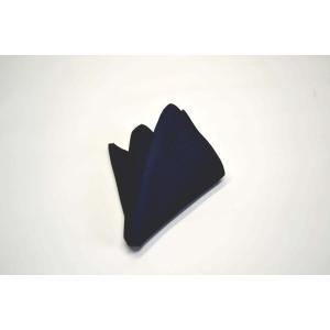 無地(縦ライン)/ネイビー(紺)のソリッド(無地)ポケットチーフ(チーフ30cm) / PC-SO005|allety-y