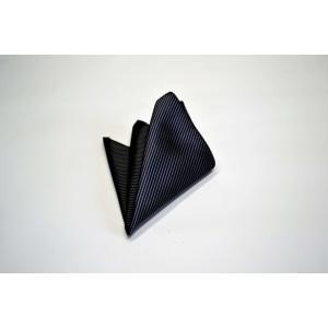 無地(縦ライン)/チャコールグレーのソリッド(無地)ポケットチーフ(チーフ23cm) / PC-SO006|allety-y