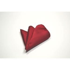 無地(縦ライン)/濃い赤(少しワインぽい赤)ソリッド(無地)ポケットチーフ(チーフ23cm) / PC-SO021|allety-y